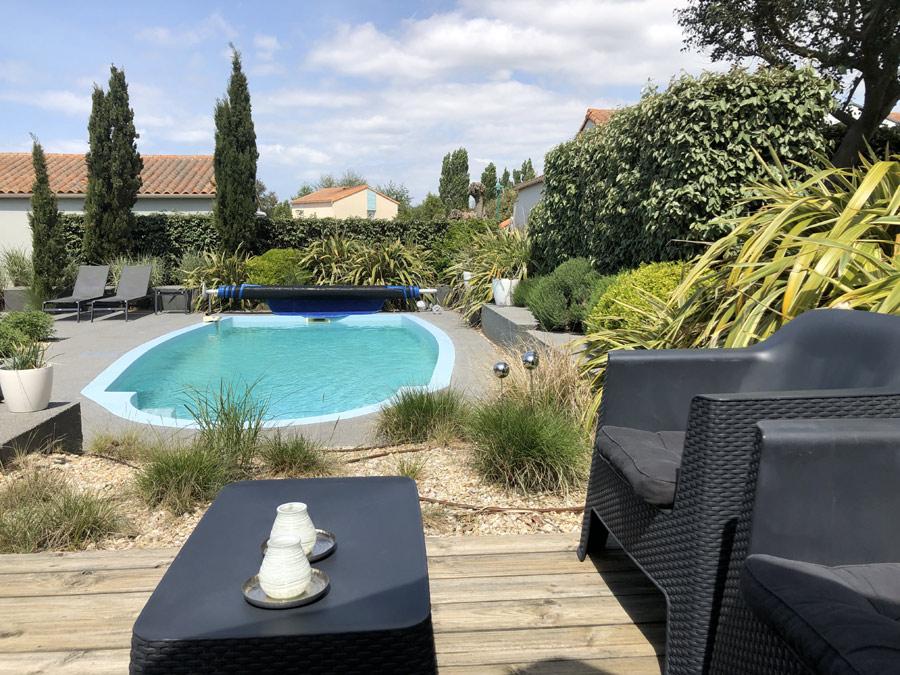 Zwembad Villa Vendee 22 Frankrijk vakantiepark Les Jardins des Sables d'Olonne
